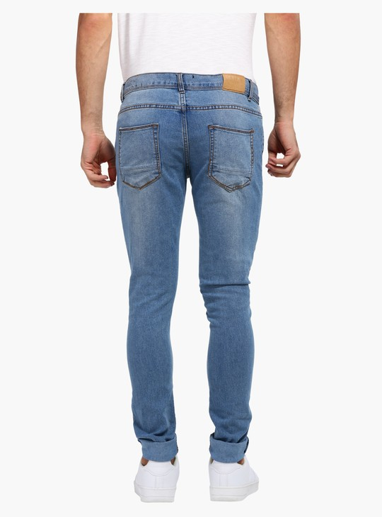 Full Length Pants with Button Closure in Skinny Fit