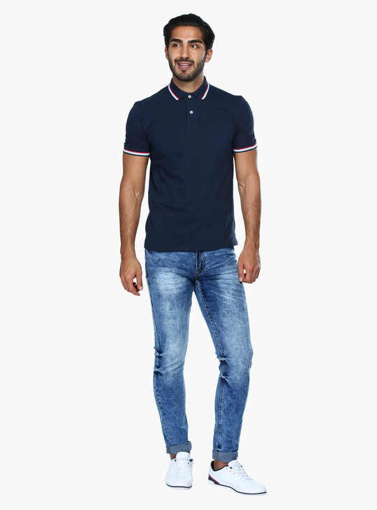 Full Length Jeans with Button Closure in Skinny Fit