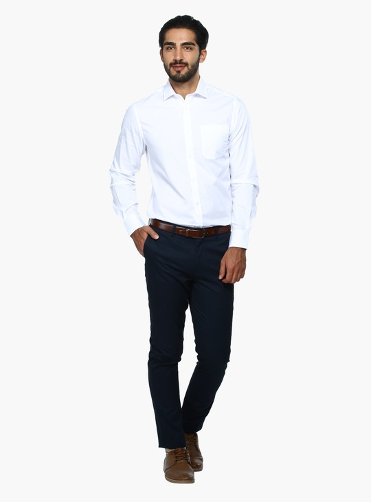 Full Length Trousers with Pocket Detail in Slim Fit