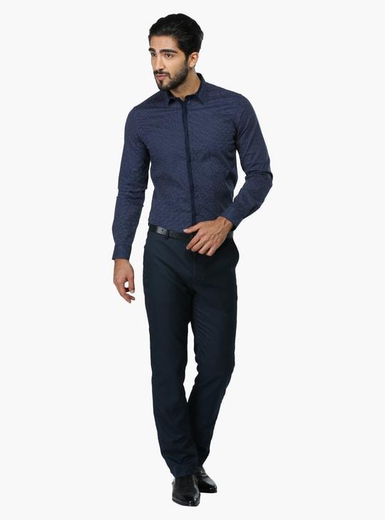 Printed Long Sleeves Formal Shirt in Slim Fit