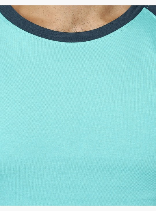 Crew Neck T-Shirt with Raglan Sleeves