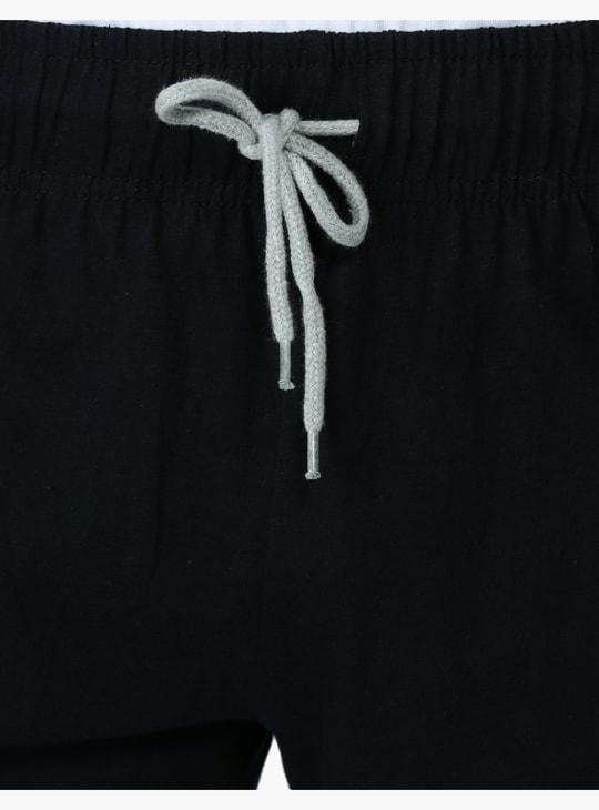 شورتات بحزام وسط مطاطي