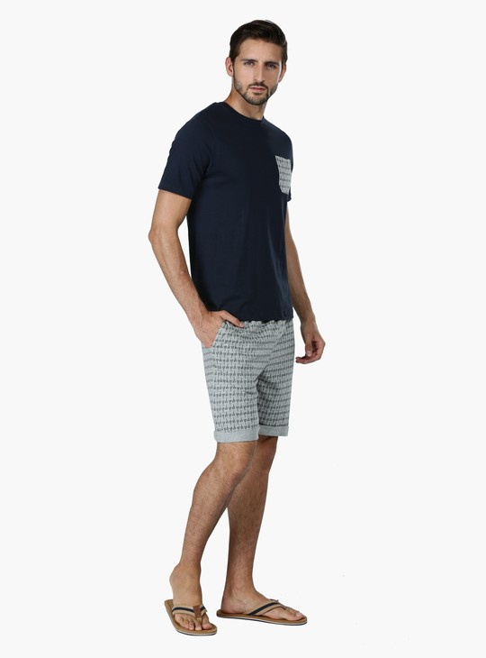 Round Neck T-shirt and Shorts Set