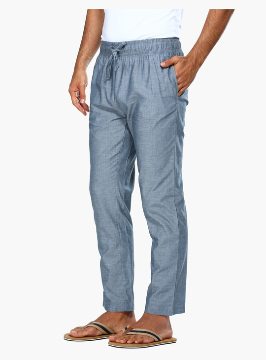Lounge Pants with Elasticised Waistband and Drawstring