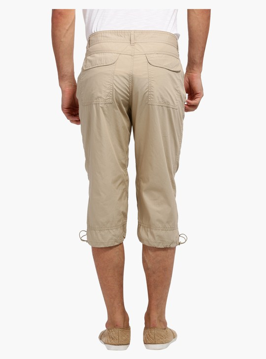 3/4 Length Pants with Button Closure