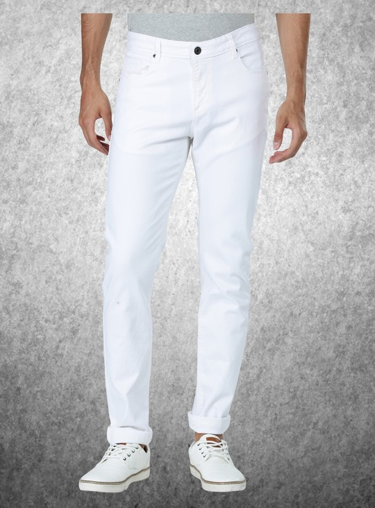 Skinny Fit Mid Rise Basic Trousers