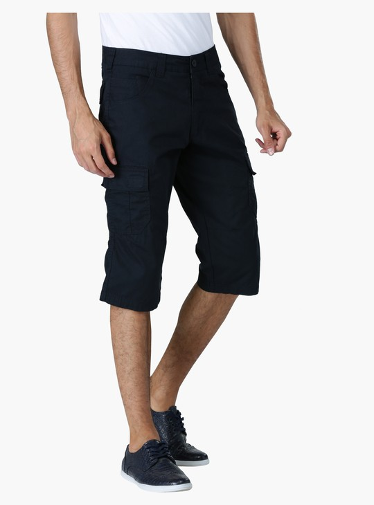 Straight Fit Mid Rise Shorts