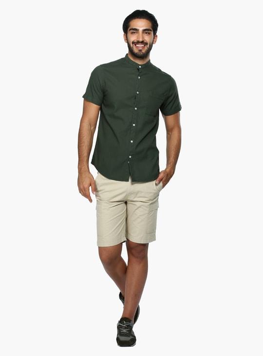 Mandarin Sleeves Shirt with Short Sleeves