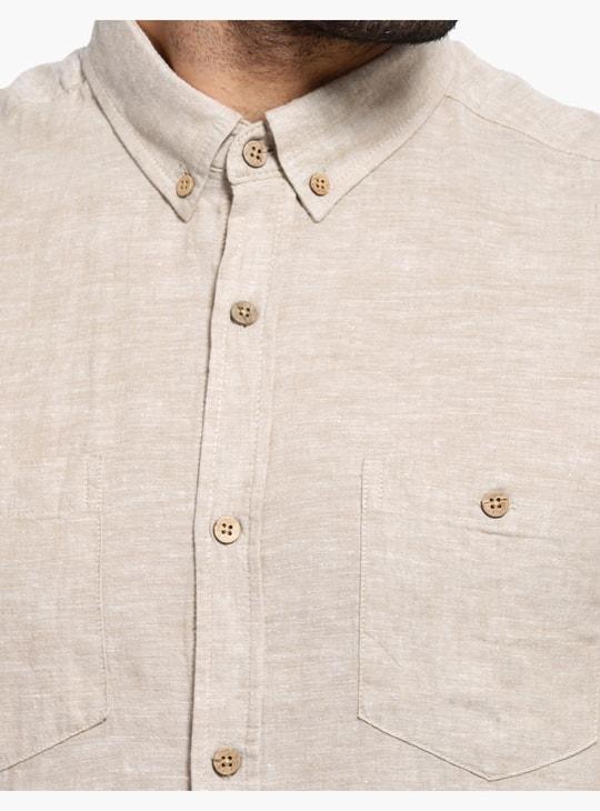 Short Sleeves Shirt with Dual Pockets