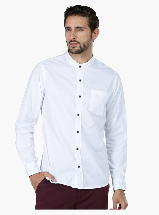 Long Sleeves Shirt with Mandarin Collar