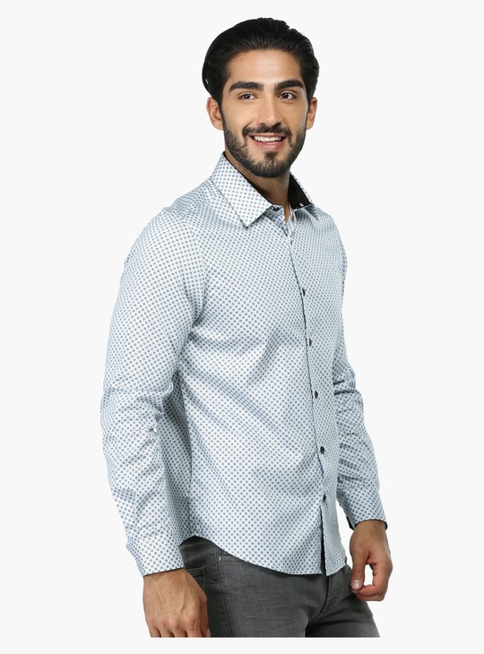 Printed Long Sleeves Casual Shirt in Regular Fit