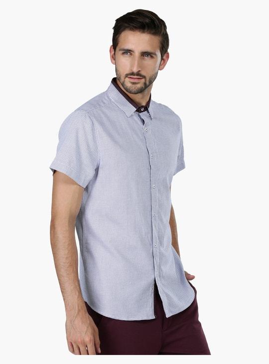 Chequered Short Sleeves Shirt
