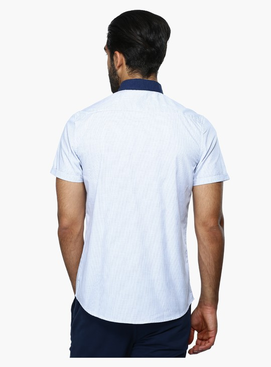 Printed Shirt with Short Sleeves in Slim Fit