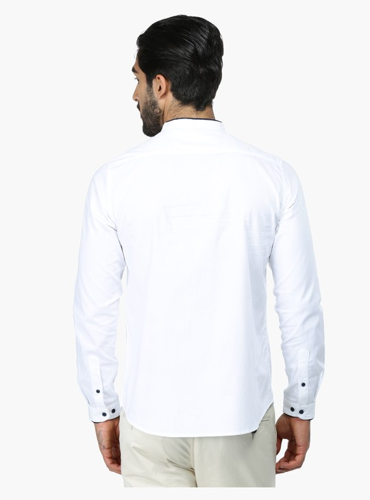 Slim Fit Long Sleeves Shirt with Concealed Placket