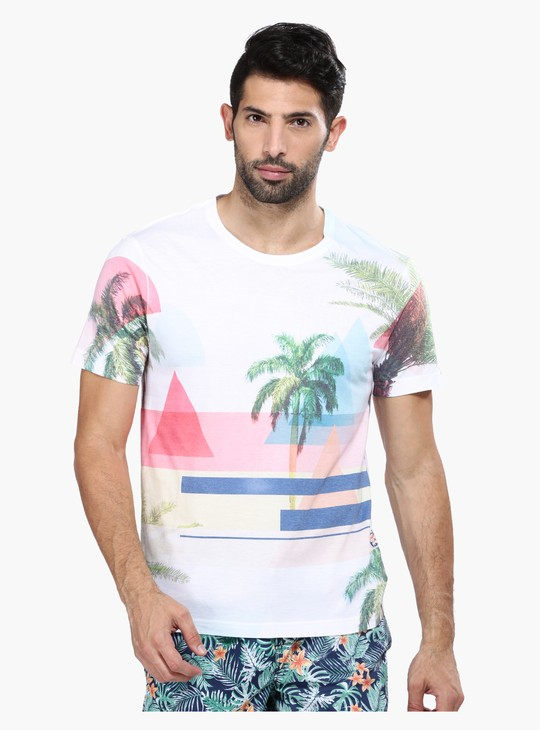 Printed Slim Fit Short Sleeves T-Shirt