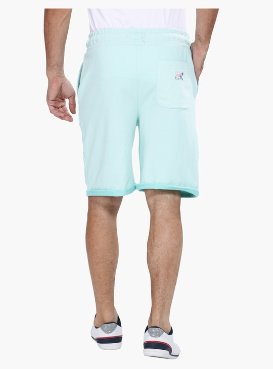 Shorts with Elasticised Waistband and Drawstring