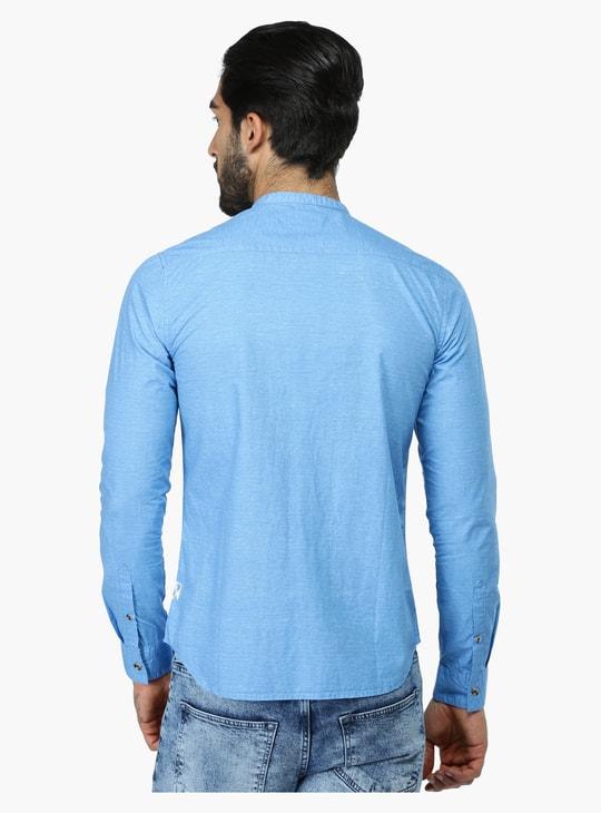 قميص بأكمام طويلة وياقة ماندارين