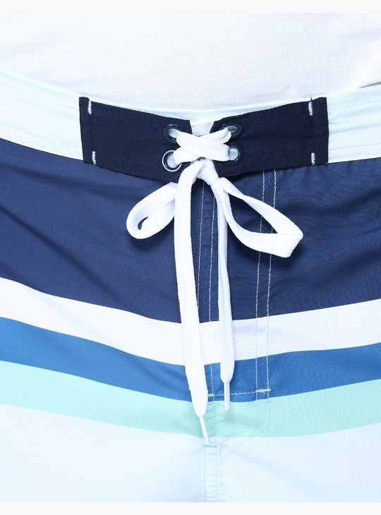Striped Surfer Shorts in Slim Fit