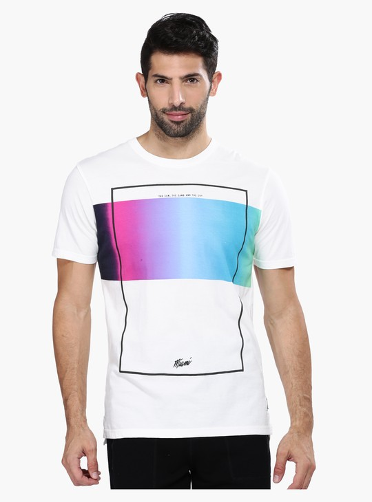 Printed Slim Fit Short Sleeves T-Shirt