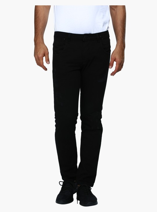 Full Length Ripped Jeans in Slim Fit