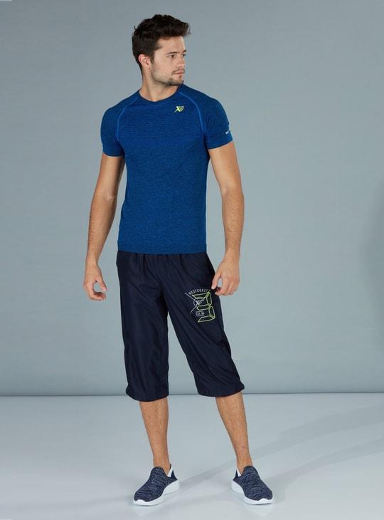 Printed 3/4 Pants with Pocket Detail
