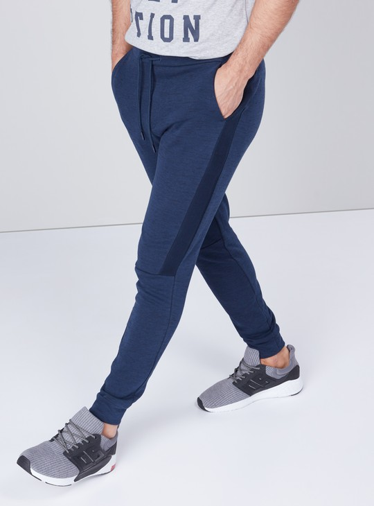 Panelled Joggers with Drawstring Closure