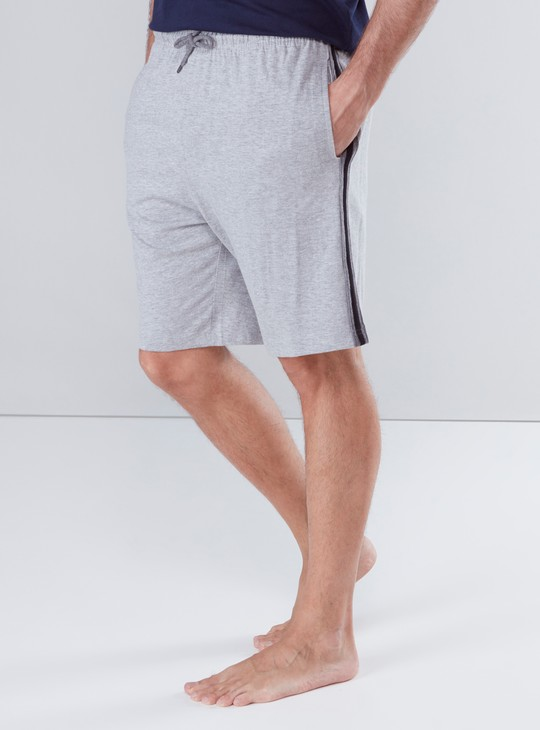 Pocket Detail Shorts with Side Stripes and Drawstring Waistband