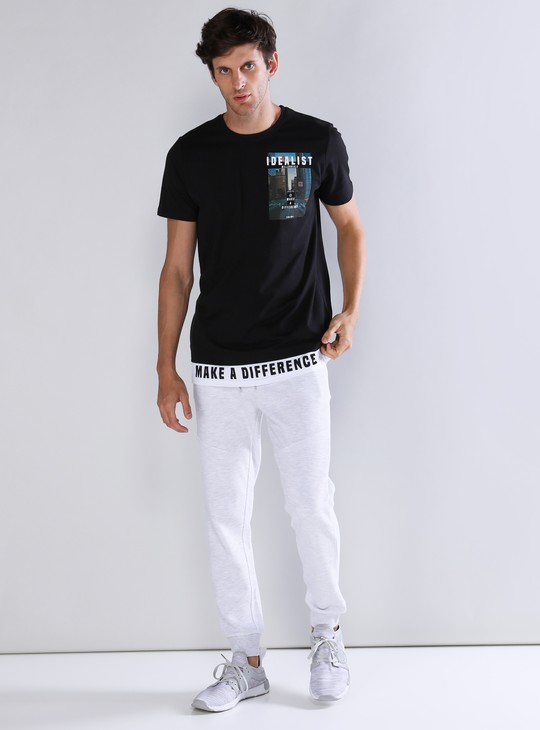 Pocket Detail Full Length Jog Pants with Drawstring
