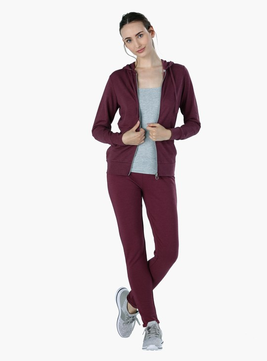 Full Length Track Pants with Elasticised Waist and Drawstring