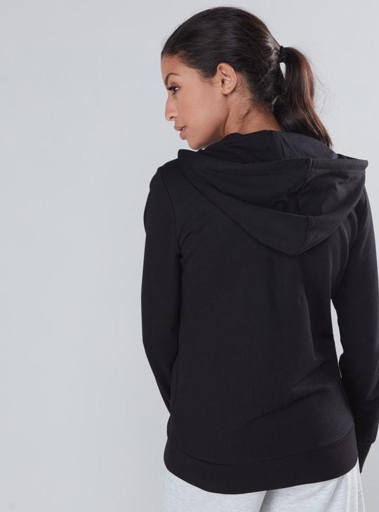 Long Sleeves Jacket with Hood and Zip Closure