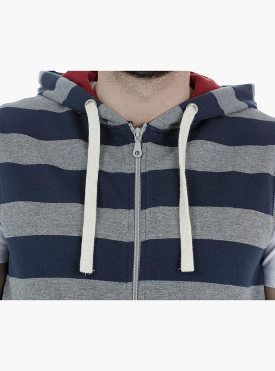 Sleeveless Zip Through Hoodie