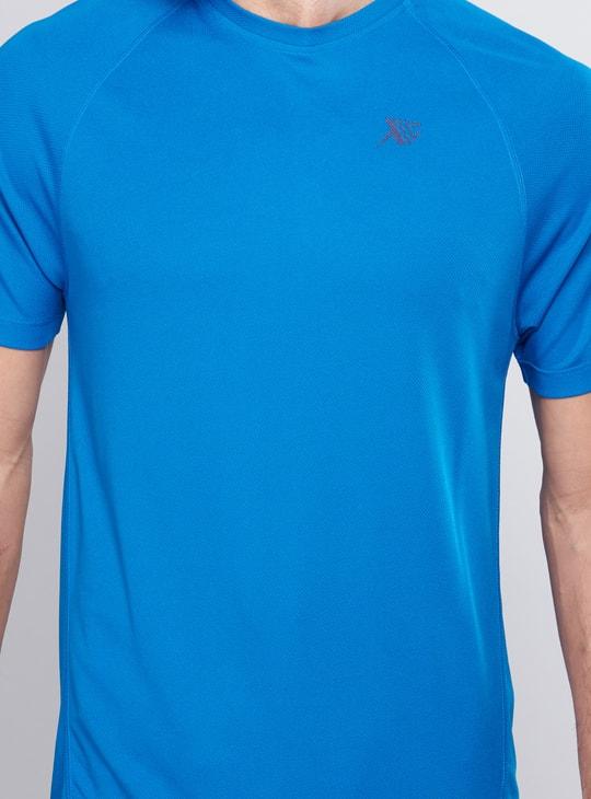 Crew Neck T-Shirt with Raglan Sleeves