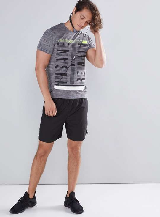 Graphic Printed T-Shirt with Crew Neck and Short Sleeves