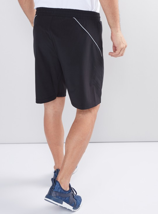 Zip Detail Shorts with Elasticised Waistband and Drawstring