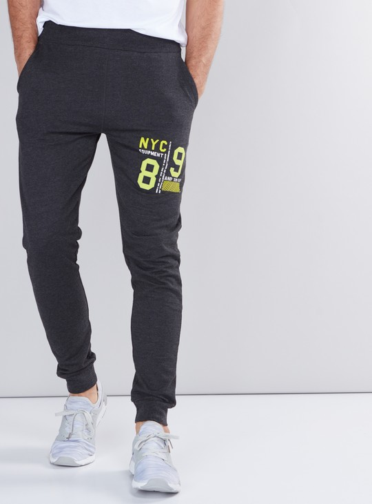 Printed Jog Pants with Pocket Detail and Elasticised Waistband