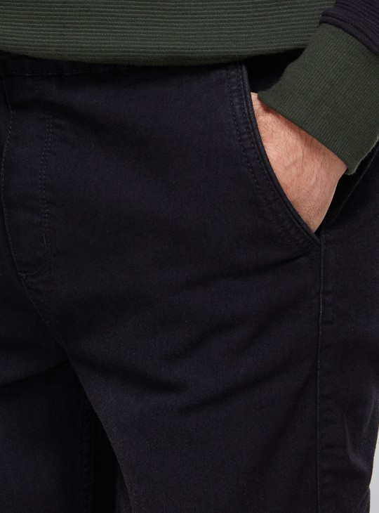 Full Length Jog Pants with Elasticised Waisband and Pocket Detail