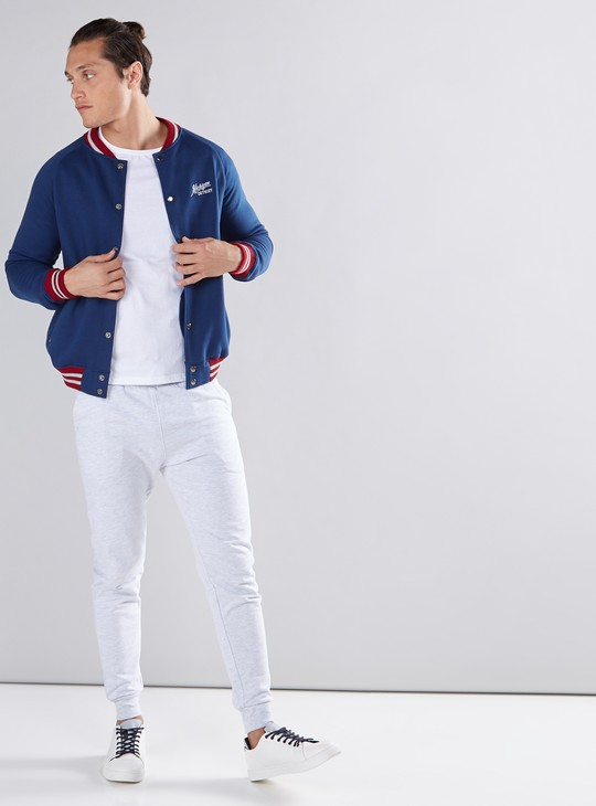 Embroidered Jacket with Pocket Detail and Press Button Closure
