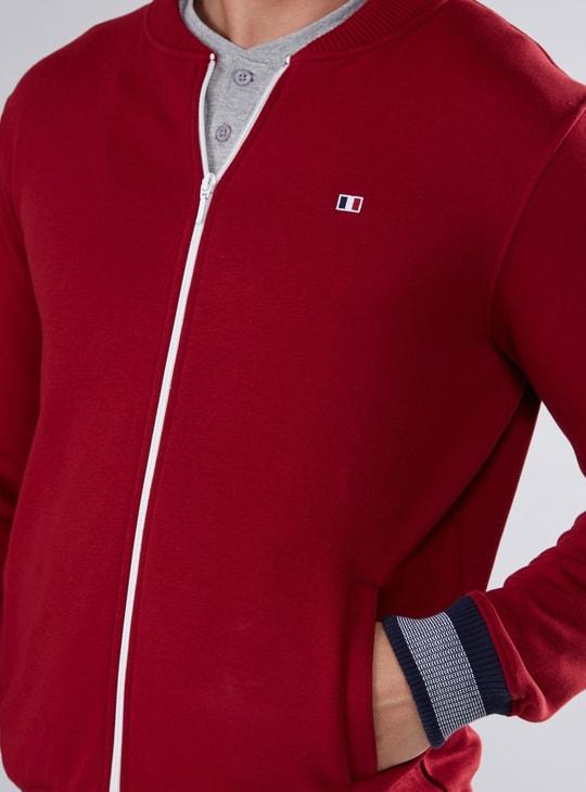 Pocket Detail Bomber Jacket with Zip Closure