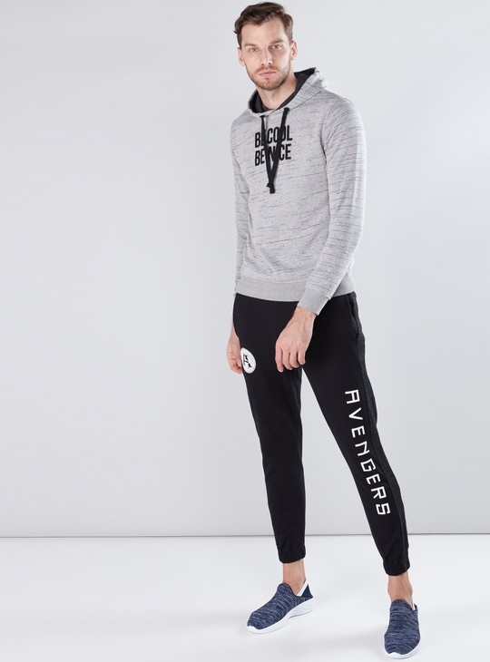 Embroidered Sweatshirt with Long Sleeves and Hood