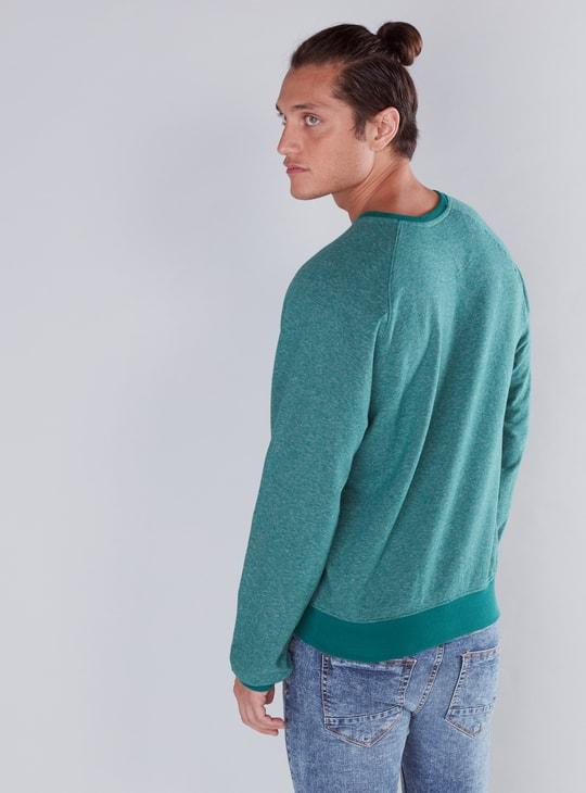 Round Neck Sweatshirt with Raglan Sleeves
