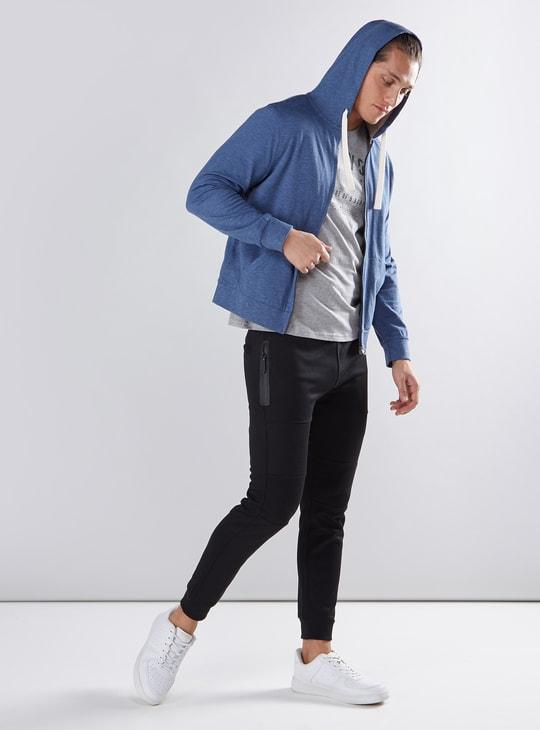 Long Sleeves Sweatshirt with Zip Closure and Hood