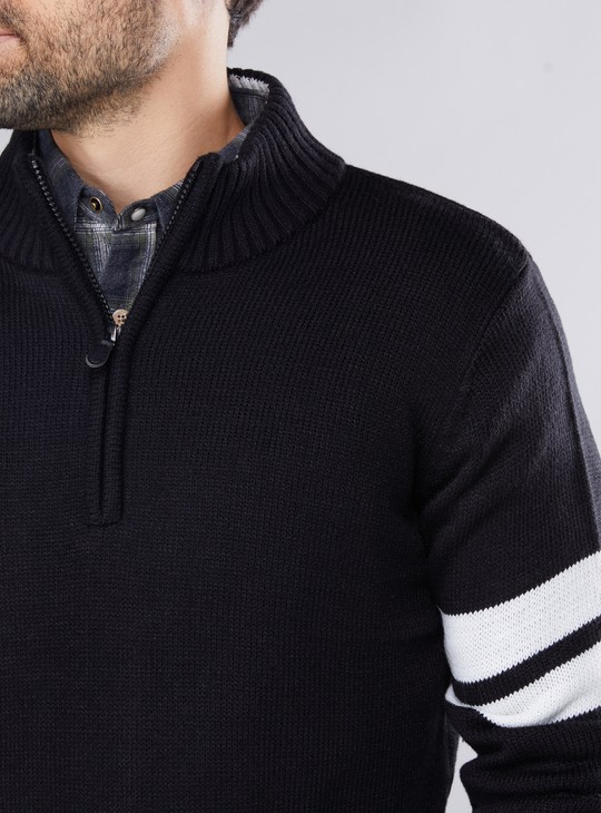 Ribbed Sweater with Long Sleeves
