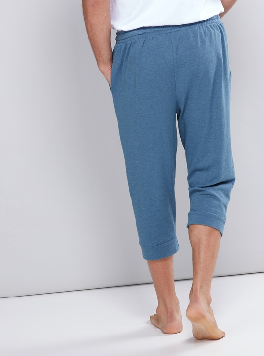 Pocket Detail Capris with Elasticised Waistband and Drawstring