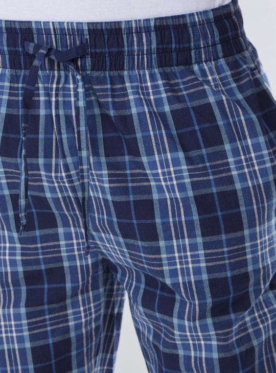 Chequered Full Length Pyjamas with Drawstring