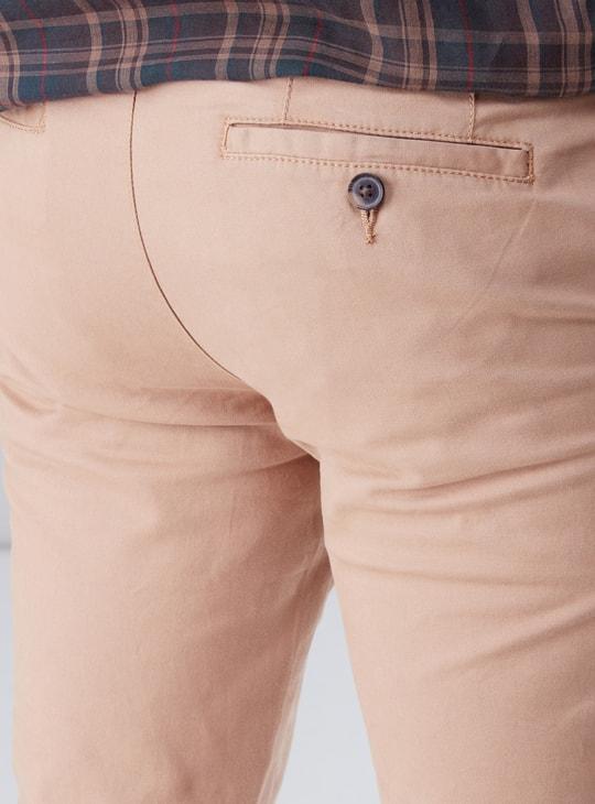 Pocket Detail Chinos with Upturned Hem