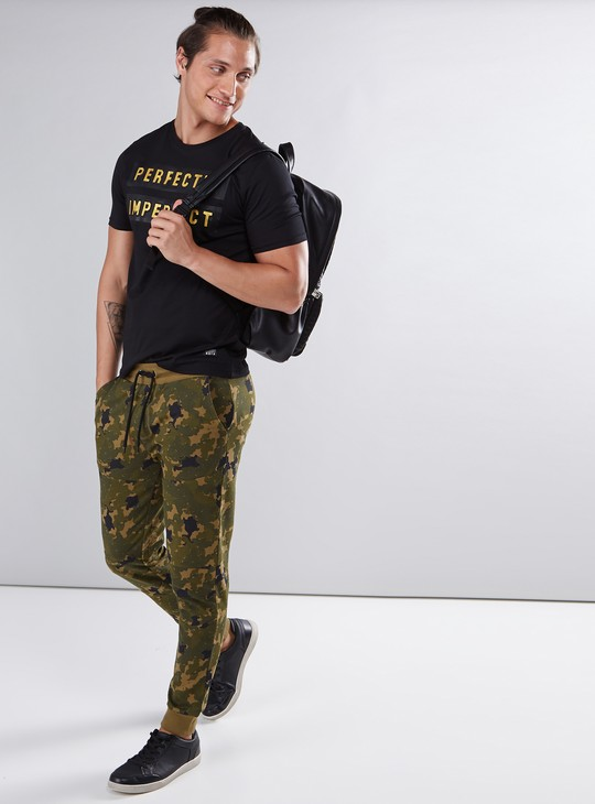 Camouflage Printed Jog Pants with Elasticised Waistband