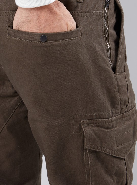 Full Length Cuffed Pants with Pocket Detail