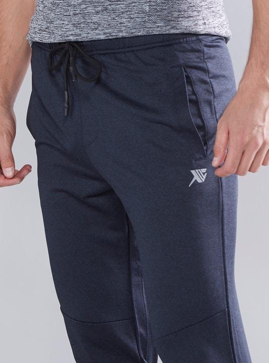Full Length Plain Jog Pants with Pocket Detail and Drawstring