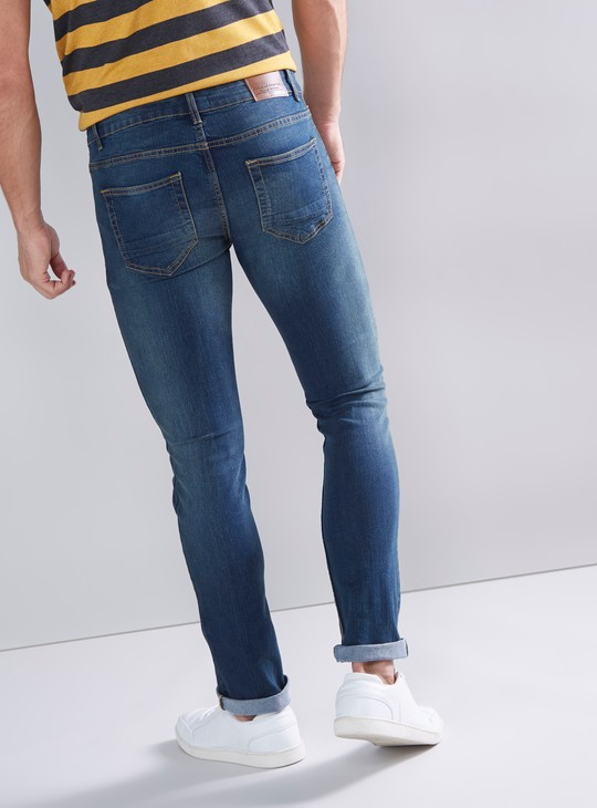 Skinny Fit Full Length Jeans with Pocket Detail