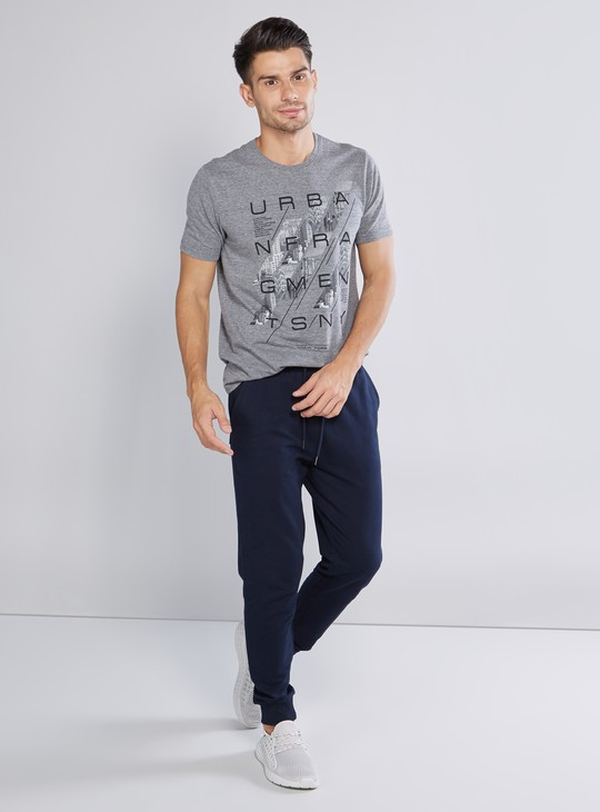 Slim Fit Plain Jog Pants with Pocket Detail